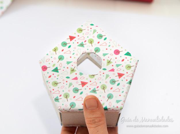Casa pájaros cartón 9