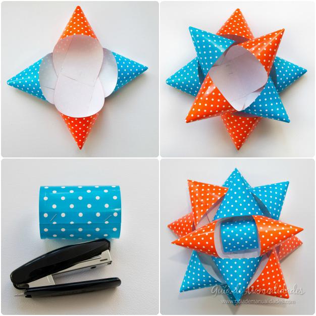 Lazos de papel gigantes para decorar gu a de manualidades - Lazos grandes para decorar ...