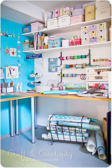 C mo armar tu propio rinc n o habitaci n para manualidades - Como trabajar desde casa manualidades ...