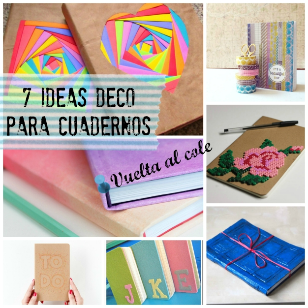 Cuadernos decorados DIY 0
