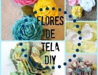 imagen 5 ideas de flores de tela DIY que vas a querer hacer