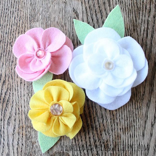 Flores de tela 1