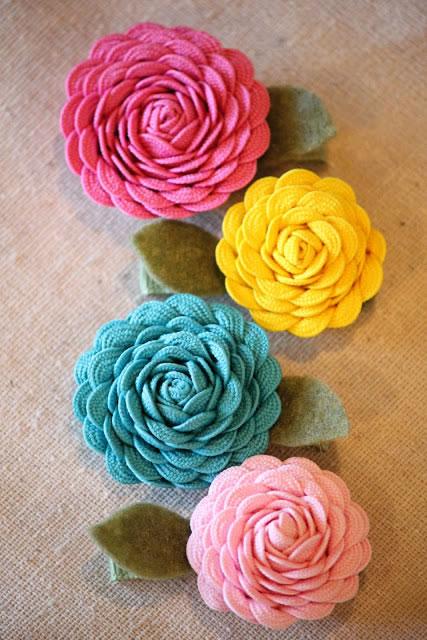 Flores de tela 3