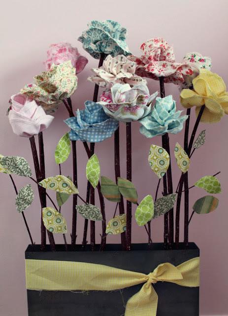 Flores de tela 4