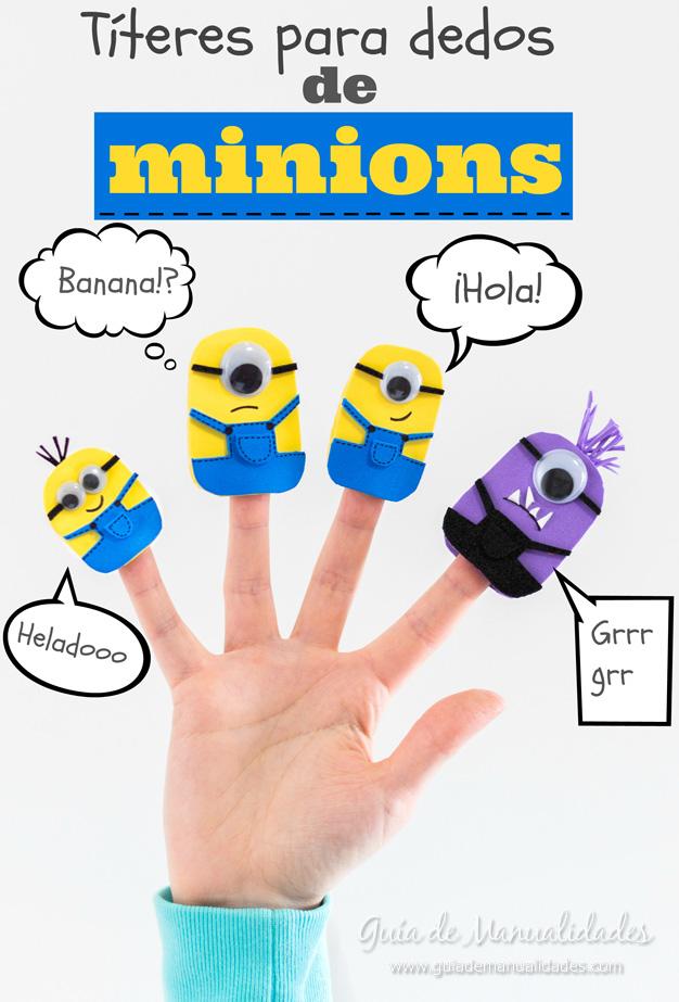 Títeres dedos Minions 1