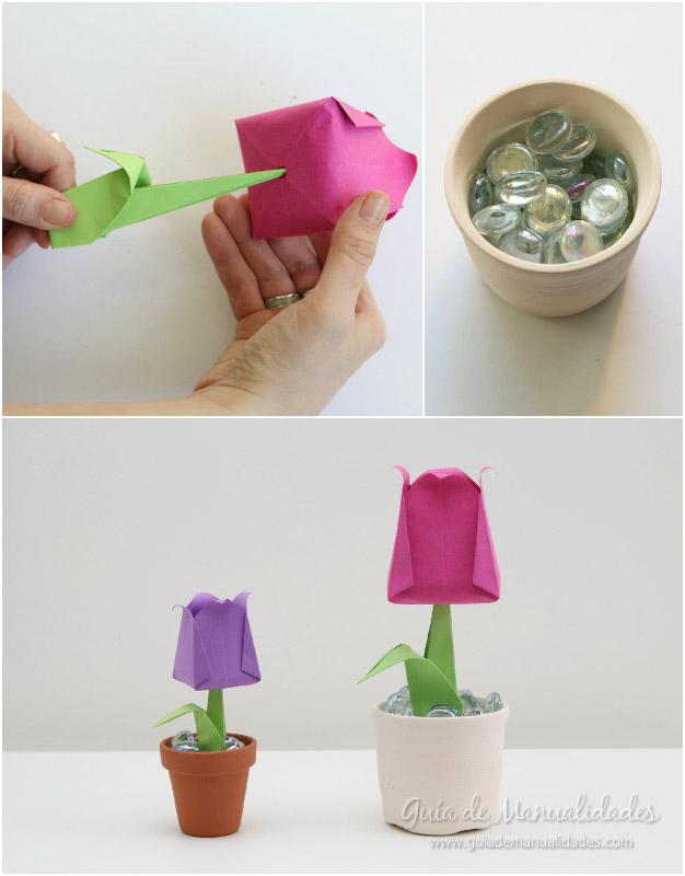 Tulipanes de origami 11