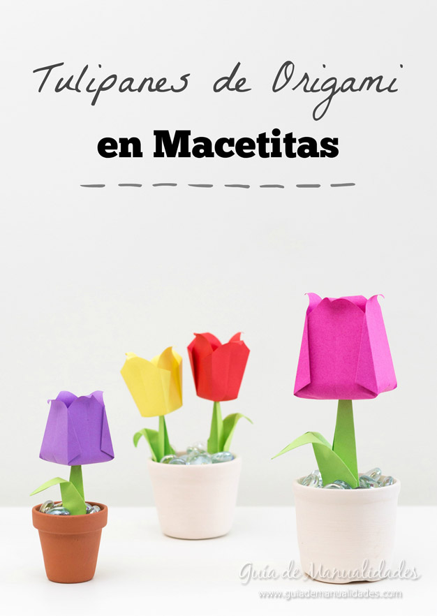 Tulipanes de origami 1a