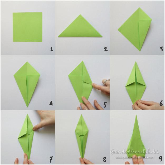 Tulipanes de origami 3