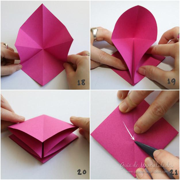 Tulipanes de origami 6