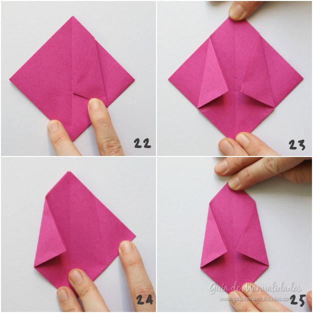 Tulipanes de origami 7