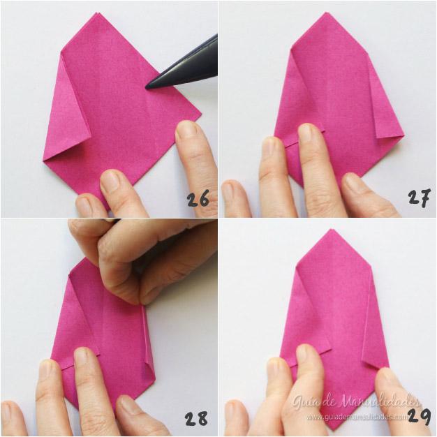 Tulipanes de origami 8