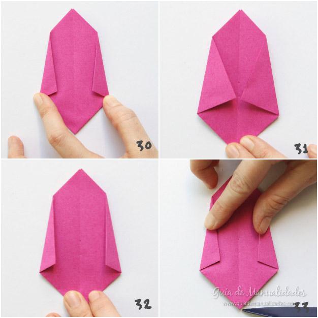 Tulipanes de origami 9