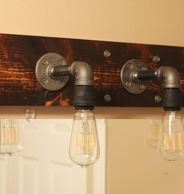 Diy Bathroom Lighting Ideas With Original Images: Aplique DIY De Estilo Industrial Para El Baño