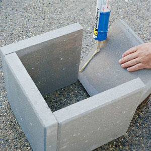 como hacer jardineras con losetas de cemento 02 - Jardineras De Hormigon