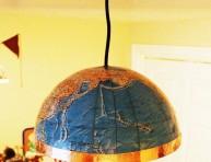 imagen Lámpara fácil con un viejo globo terráqueo