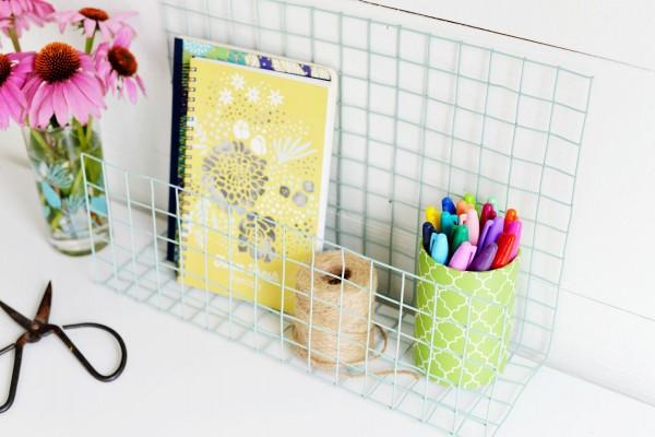 Organizador De Alambre Para Baño:Organizador de escritorio hecho con malla de alambre – Guía de