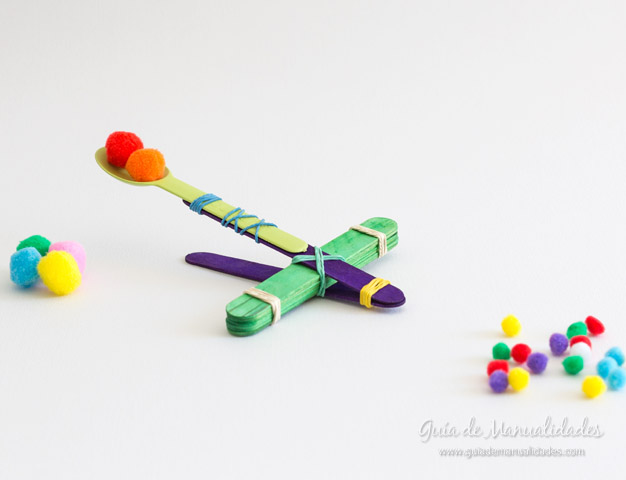 Catapulta Para Jugar Con Palitos De Helado Guía De Manualidades