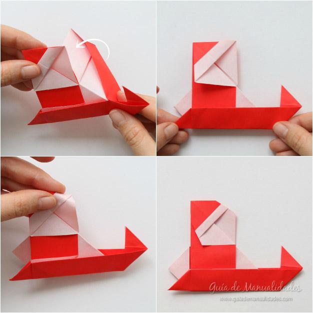 Tarjeta Santa origami 10
