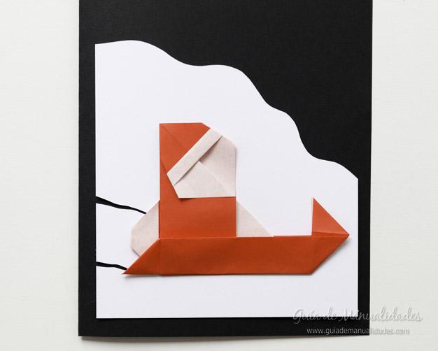Tarjeta Santa origami 12
