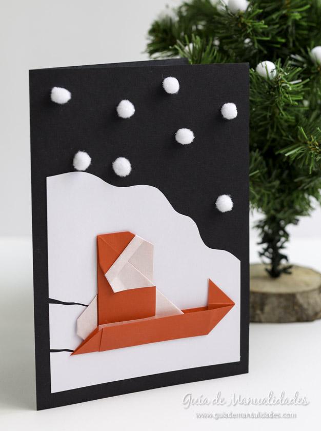Tarjeta Santa origami 14