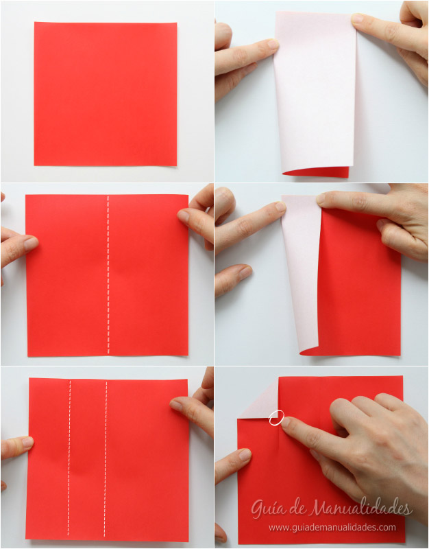 Tarjeta Santa origami 3