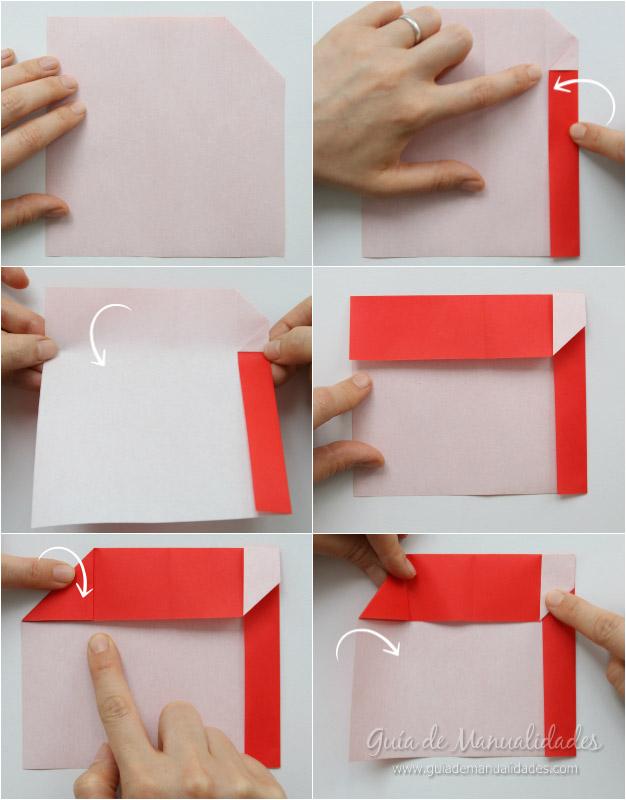 Tarjeta Santa origami 4