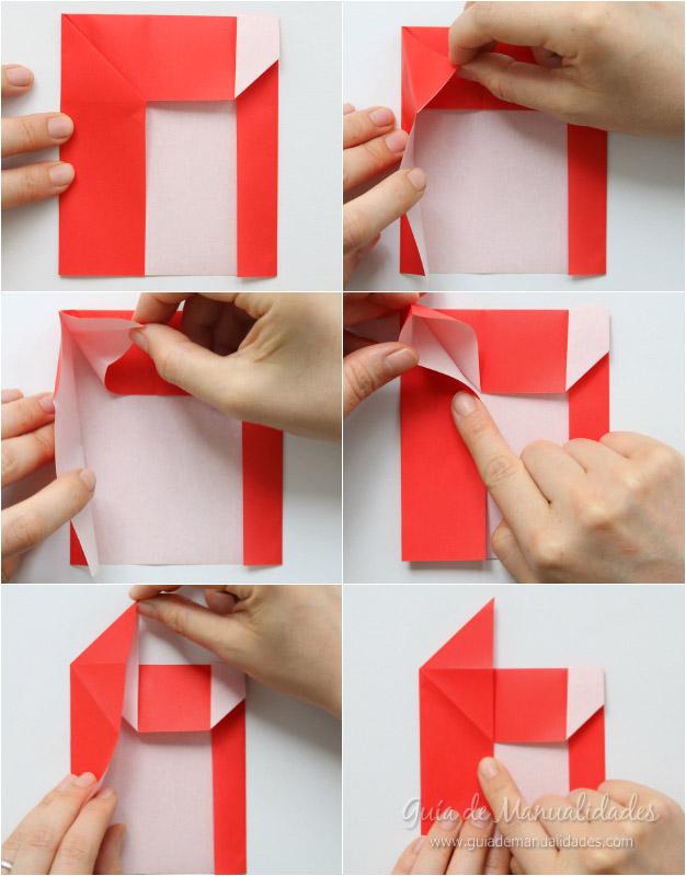 Tarjeta Santa origami 5