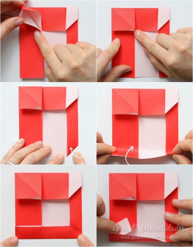 Tarjeta Santa origami 6