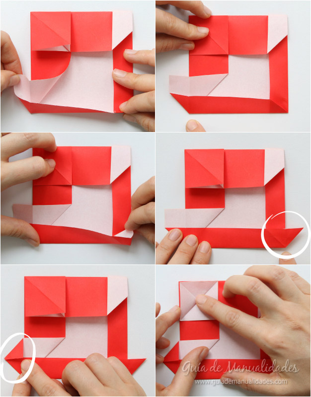 Tarjeta Santa origami 7