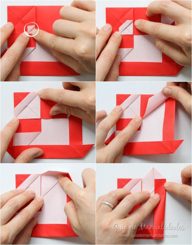 Tarjeta Santa origami 8
