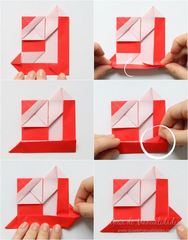 Tarjeta Santa origami 9