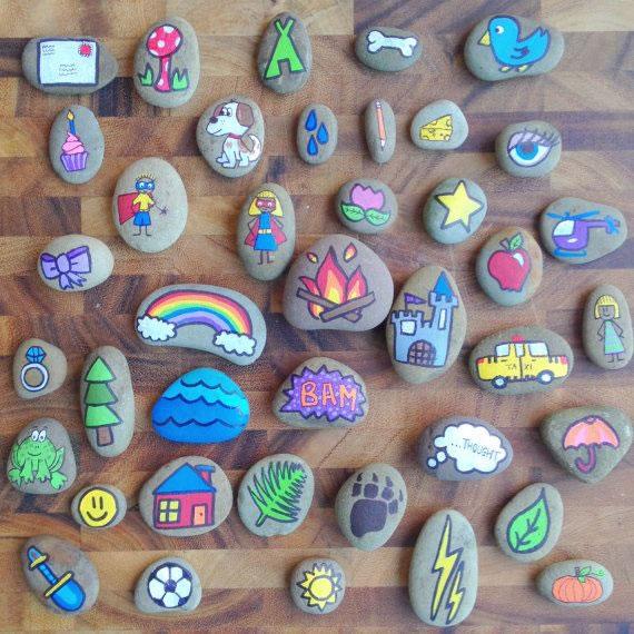 Consejos pr cticos para pintar piedras gu a de manualidades for Tecnica para pintar piedras