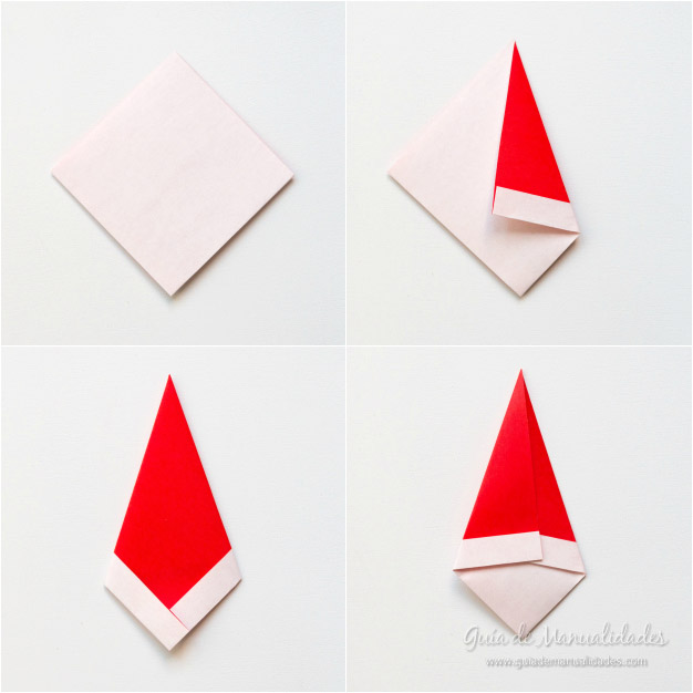 Papá Noel origami 5