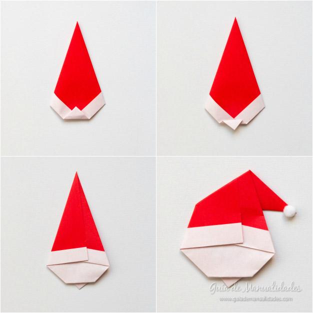 Papá Noel origami 6
