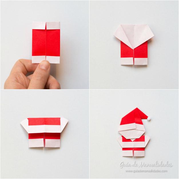 tierno santa de origami gu a de manualidades. Black Bedroom Furniture Sets. Home Design Ideas
