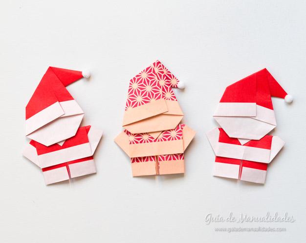Papá Noel origami 9