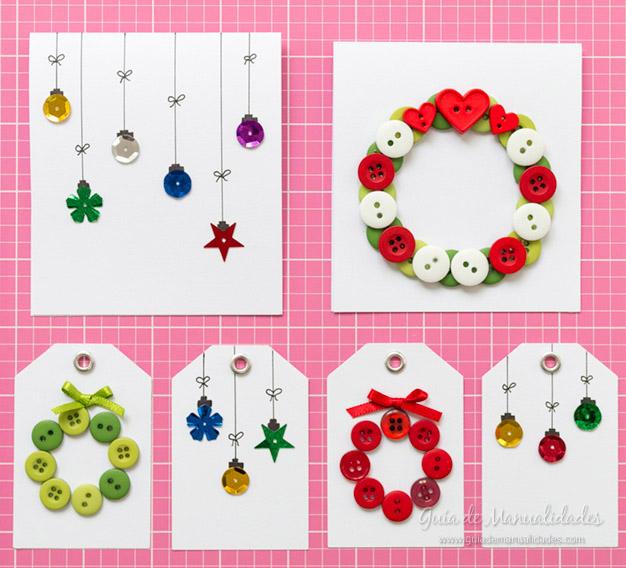 2 ideas para tarjetas y etiquetas navide as en minutos - Tarjeta de navidad manualidades ...