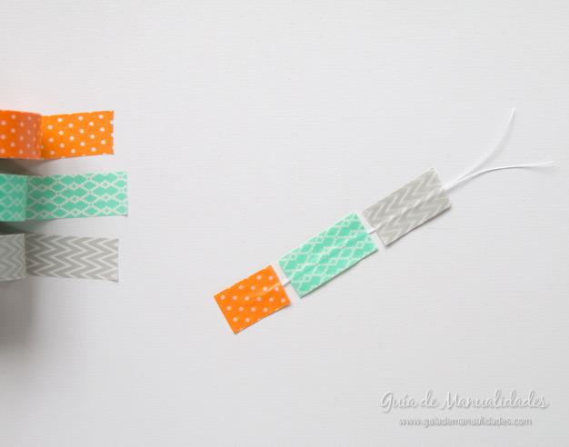 Aros con cinta washi 6