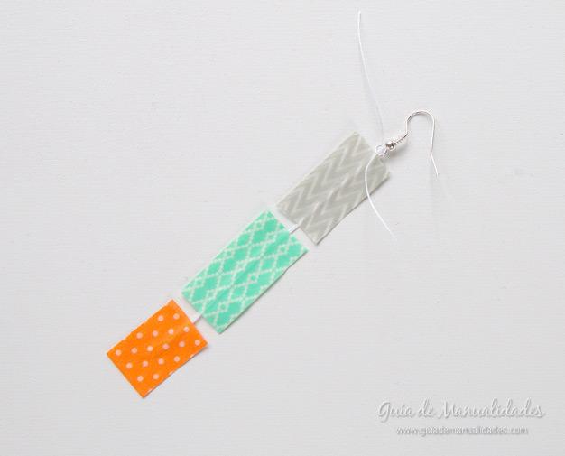 Aros con cinta washi 7