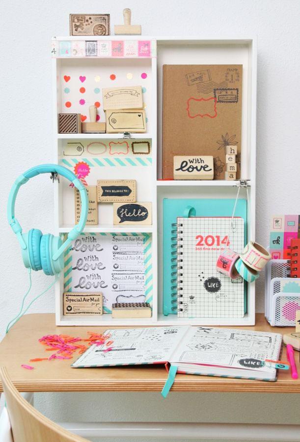 15 ideas con estilo para organizar nuestro escritorio for Bureau lyceen