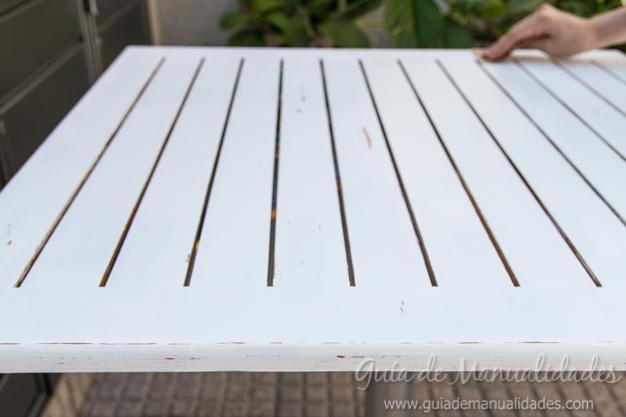Mesa de madera decapada 10