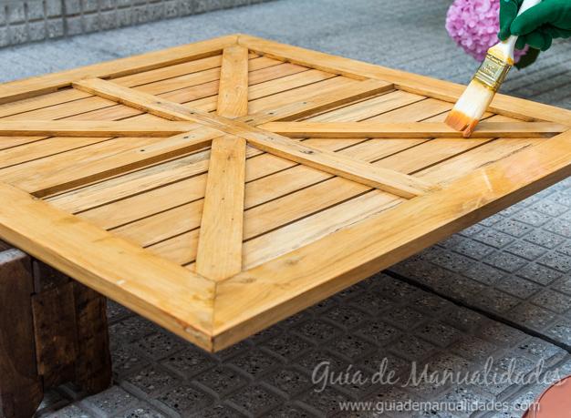 Mesa de madera decapada 14