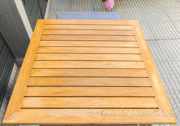 Mesa de madera decapada 3