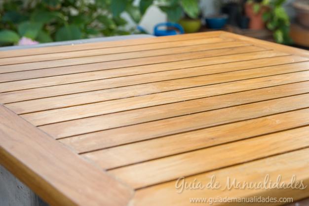 Mesa de madera decapada 5