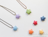 imagen Original colgante con una estrella de origami