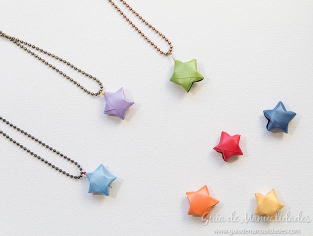 Colgante estrella origami 1