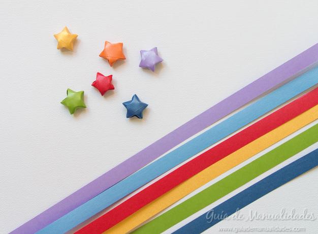 Colgante estrella origami 3