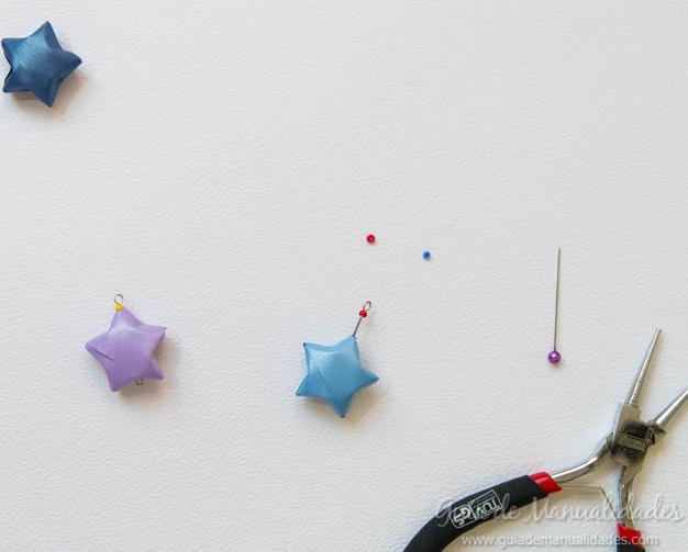 Colgante estrella origami 4