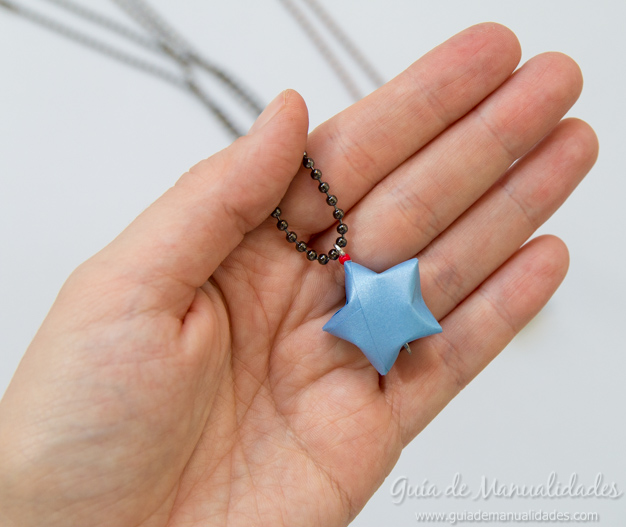 Colgante estrella origami 5