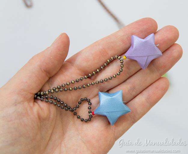 Colgante estrella origami 6